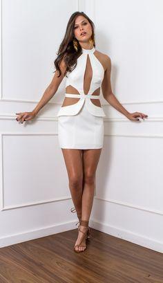 VESTIDO RECORTES TULE - VE21969-99 | Skazi, Moda feminina, roupa casual…