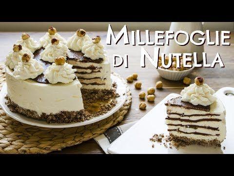 TORTA GELATO MILLEFOGLIE NUTELLA E PANNA