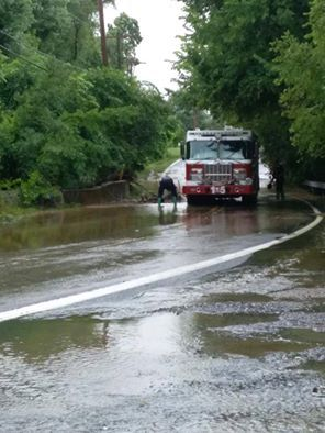 A Picture of More Flooding in Dundalk Maryland this is at NorthPoint Road Near GermanHill Road