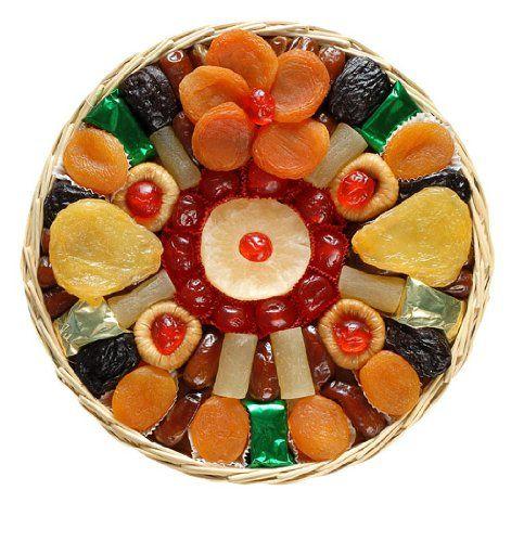 Broadway Basketeers Heart Healthy Floral Dried Fruit (Large) Gift Basket $29.95