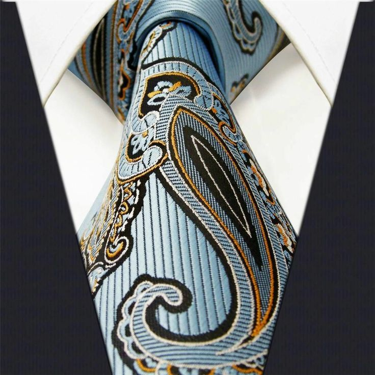 Sky Blue Paisley - Neckties Only Collection - NT033g 25% off discount code: pinterest @ NecktiesOnly.com