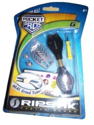 Razor Pocket Pro RipStick G - Black by Razor. $19.95. Pocket-sized fingerboard allows you to practice tricks anywhere!. Real twisting torsion bar!. Swapable deck plates. 360° inclined caster wheels!. Extra set of wheels with mini screwdriver. This Pocket Pros Ripstik fingerboard has the same detailing you see on the full-size version of the RipStik Classic model. Bring along this official Pocket Pros RipStik wherever you go for instant RipStik fun at your fingertips!