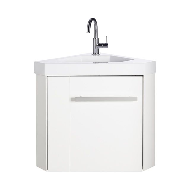 Lave-mains d'angle blanc Levyne - CASTORAMA