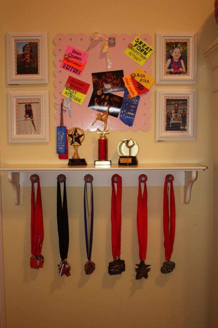 ribbon and trophy award display