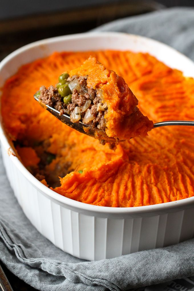 A traditional shepherd's pie recipe gets a makeover, with a twist.  Flavorful bison and nutrient packed sweet potatoes make this comfort food irresistible.
