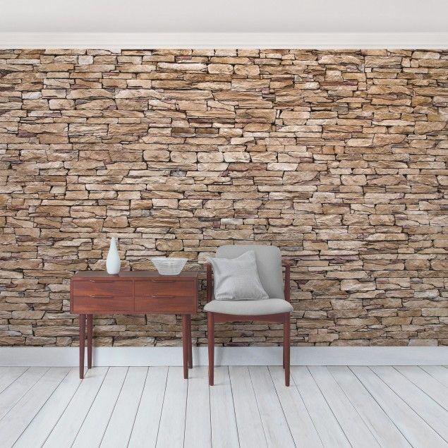 Die besten 25 steinwand wohnzimmer ideen auf pinterest wohnzimmer in braun salons dekor und - Backsteinwand imitat ...
