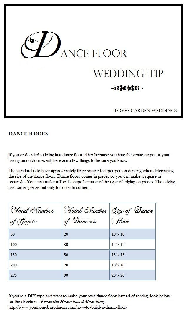 how to make your own sprung dance floor