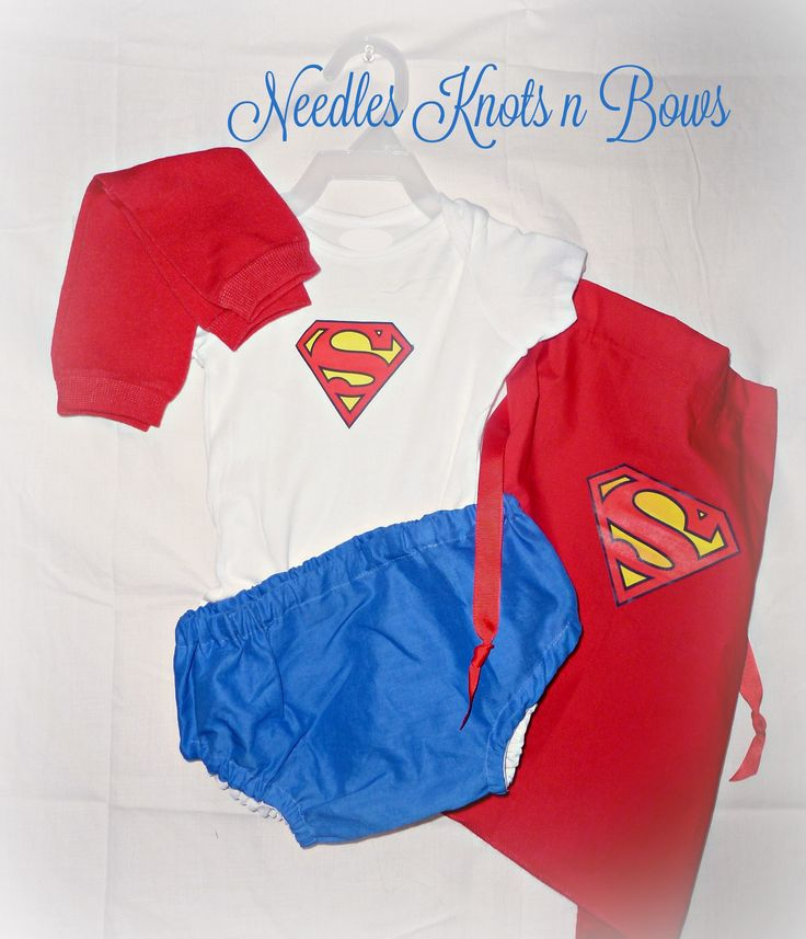 This+listing+is+for+our+4piece+baby+boy,+toddler+Superman+Costume.+ Diaper+cover,+cape,+Onesie+or+Tshirt+depending+on+preference+and+legwarmers.+Cuffs+&+mask+can+be+added+on+during+purchase.+**Cuffs+will+not+have+Superhero+logo+on+them+as+shown+in+picture+*** These+are+homemade+costumes+that+ar...