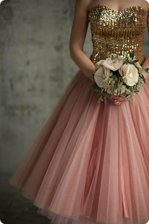 Gold and peach wedding dress.  I have no idea who shot this image or where it is from. If someone could please let me know that would be amazing. Gorgeous styling and photography.