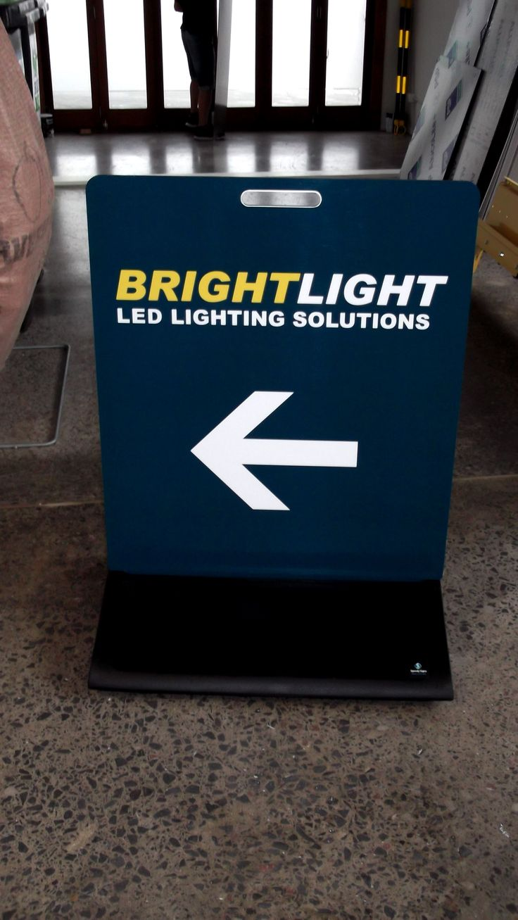 Footpath Sign for Bright Light by Speedy Signs Newton