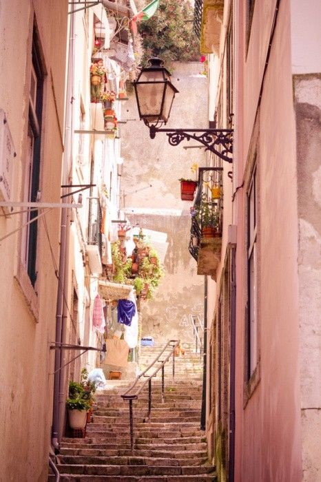 PortugalNarrow Street, Favorite Places, Dreams, Twigg Photography, Beautiful Places, Lisbon Portugal, Pink, Lisbon, Travel Photography