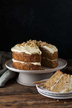 spicy pumpkin and apple cake with cream cheese and maple frosting