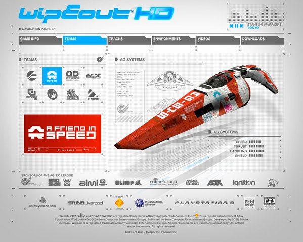 Wipeout HD by Long Tran, via Behance
