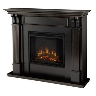 @Overstock.com - Ashley Blackwash Electric Fireplace By Real Flame - Give your home a warm glow with this black electric fireplace. The portable fireplace features handsome black washed pillars with curved supports, ultra-bright Vivid Flame LED technology, and will plug into any standard electrical outlet.  http://www.overstock.com/Home-Garden/Ashley-Blackwash-Electric-Fireplace-By-Real-Flame/6518690/product.html?CID=214117 $578.99