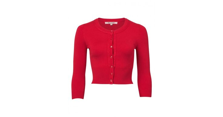 Review Australia - Chessie 3/4 Sleeve Cardi Red