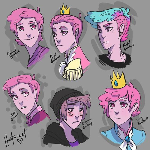 Different faces of Prince Gumball