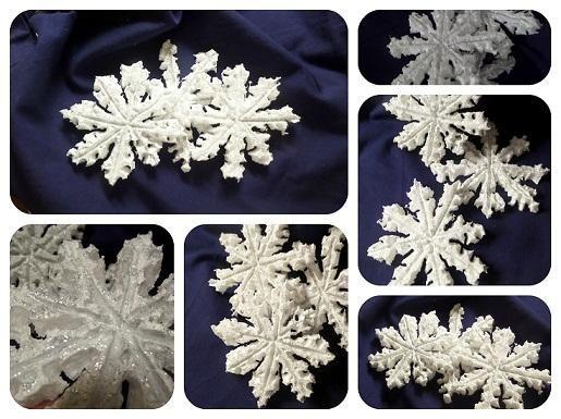 Snehové vločky - vianočná dekorácia. Vianoce - Artmama.sk