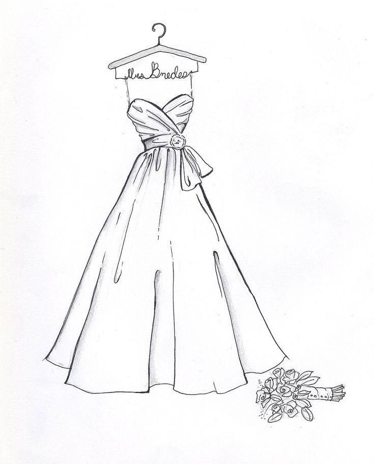 1000+ ideas about Wedding Dress Sketches on Pinterest | Dress ...