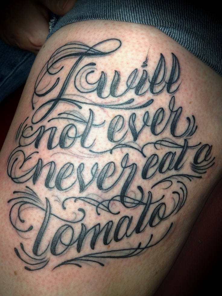 Script Tattoo Cursive Lettering Words Phrase For