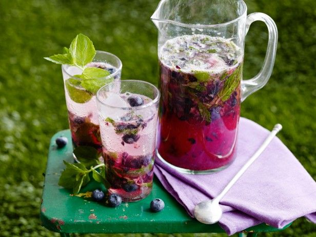 Blueberry-Ginger Mojito Pitchers from CookingChannelTV.com