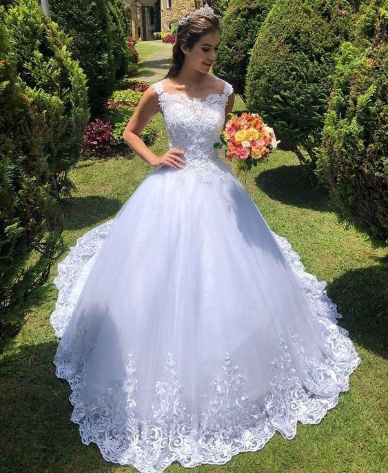 White Princess Wedding Dress , Bridal Gown ,Dresses For Brides, PM0002 – Best Wedding Dresseses