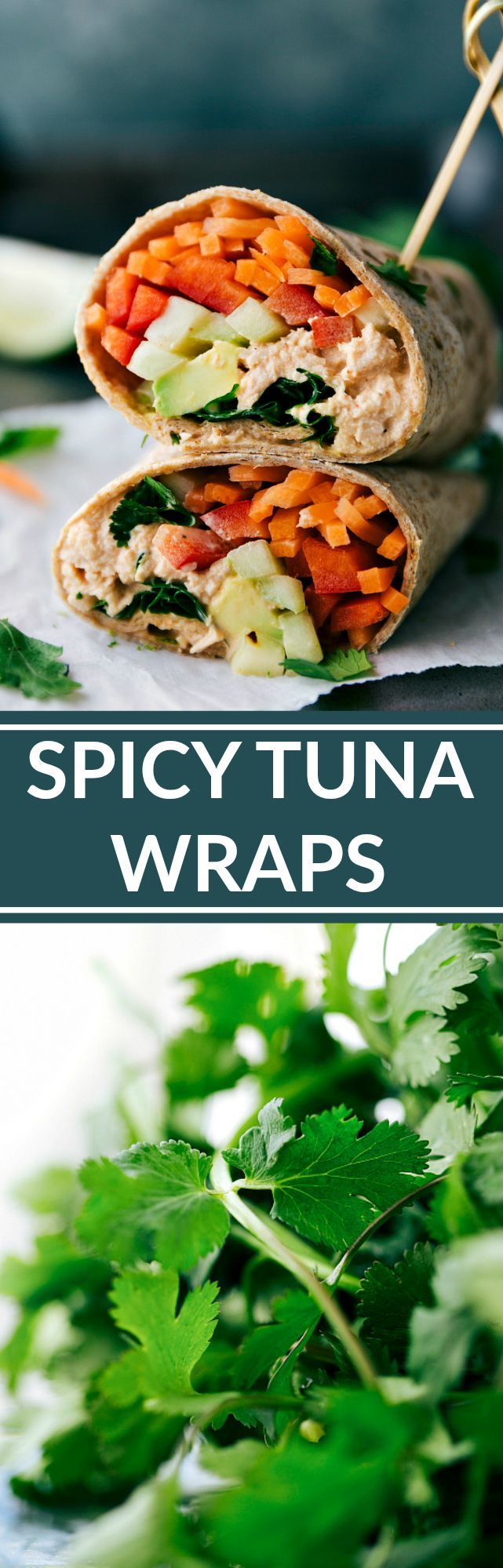 SPICY TUNA WRAPS! Healthy easy and delicious! via http://chelseasmessyapron.com