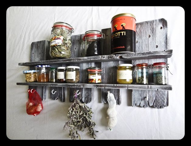 *Gewürz / Paletten / Vintage Regal Für Küche, Bad Oder Wohnzimmer In  Upcycling Shabby