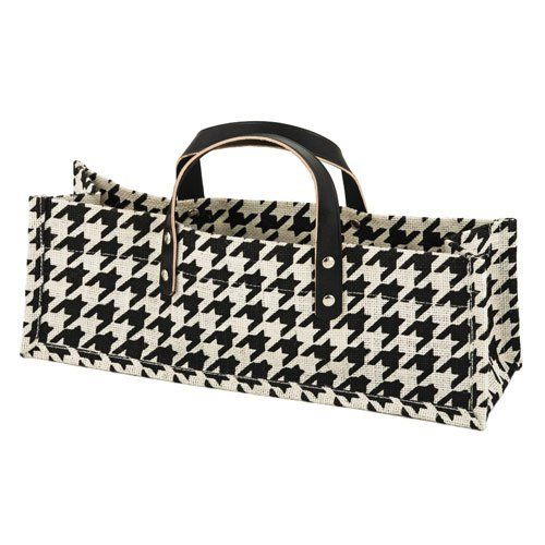 For the fashion maven who loves wine, this is the bag for them! This bold bag features natural jute, designed with a black and white houndstooth pattern, and faux leather handles. It will be the IT bag for gift-giving this … Read More »