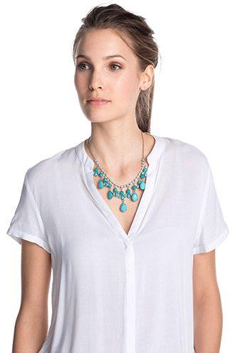 Esprit / Korte halsketting met sierstenen
