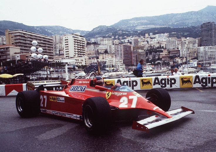 Gilles Villeneuve (Ferrari) Grand Prix de Monaco - 1981 - Formula 1 HIGH RES photos (Old and New) Facebook
