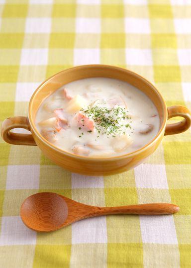 海の香りいっぱいの具だくさんで栄養たっぷりのスープです♪あさりの旨味が詰まった、豊かな味わいは寒い日にピッタリです☆
