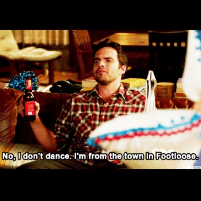 This is going to be my go-to excuse for not dancing.