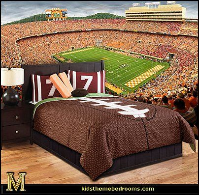Fun Sports theme bedroom decorating ideas. 17 Best ideas about Football Themed Rooms on Pinterest   Boys
