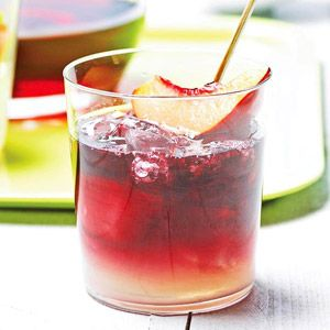 Party and cocktail time! Sunset Sangria Spend a relaxing afternoon slowly sipping this cool and delicious drink recipe that combines wine, sugar, and lime juice garnished with a nectarine.