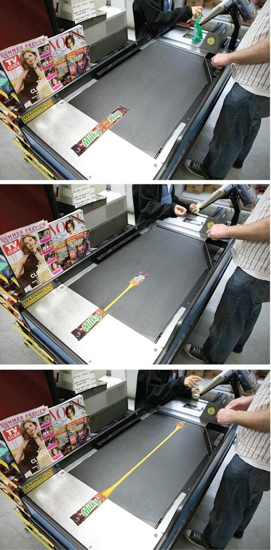 Very clever ad for Milky Way on the grocery conveyor belt. http://www.arcreactions.com/services/social-media