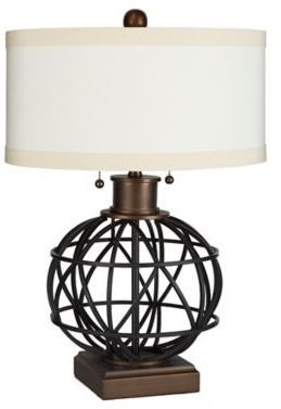 Nice side table lamp, great for the library area or reading nook in the house | #lamp #ad #readingnook #ideas #homedecor