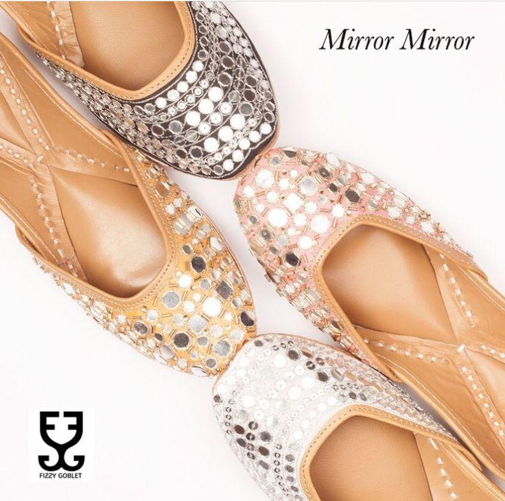 Fizzy goblet # Mirror mirror collection # footwear # Indian fashion #