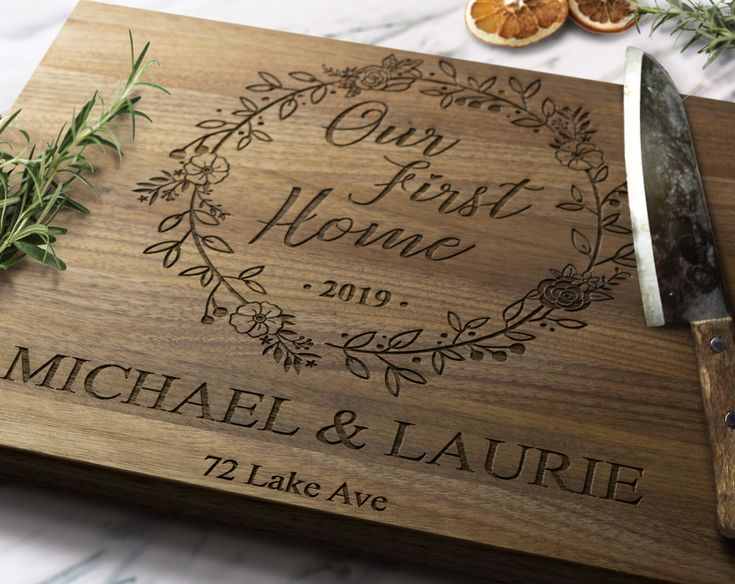 Our First Home Custom Cutting Board – First Home Gift – New Home Gift – Housewarming Gift – Personalized Cutting Board