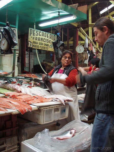 Fish market on Chiloe island, Chile