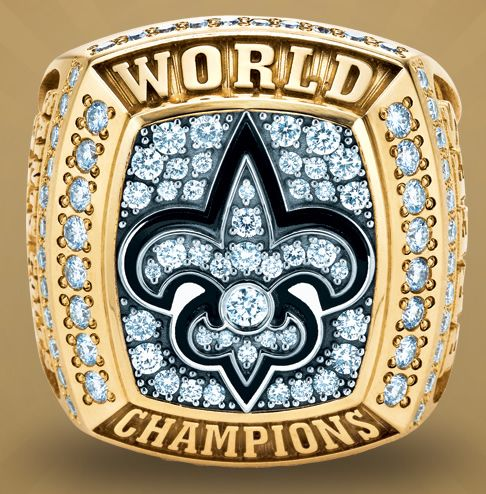 It took them 44 years, but this is the New Orleans Saints Super Bowl XLIV World Championship ring.