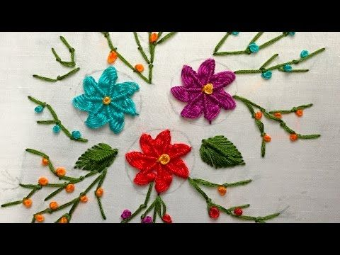 Hand Embroidery: Lazy Daisy Stitch - YouTube