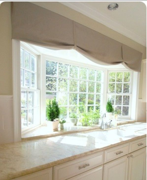 Window treatment home pinterest window kitchen for Discount bay windows