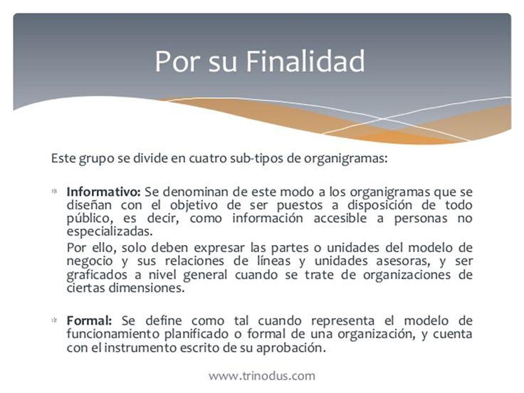 Por Su Finalidad: A).informativos. B).informal.