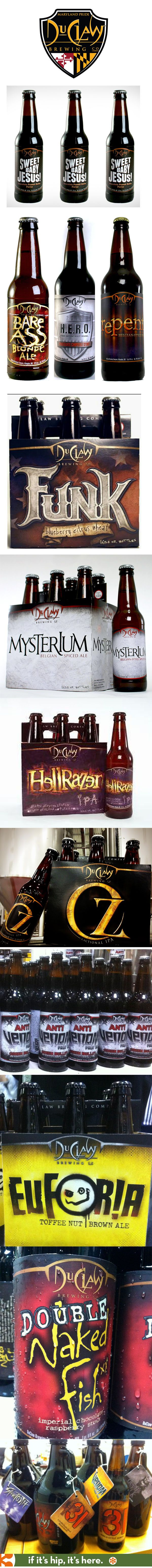 Some of the fun beer names, labels and packaging from DuClaw.