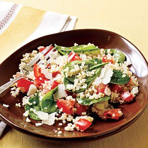 Quinoa with Roasted Garlic, Tomatoes, and Spinach: Spinach Recipe, Quinoa Recipe, Fun Recipe, Side Dishes, Cooking Lights, Roasted Garlic, Whole Grains, Healthy Recipe, Cooking Tips
