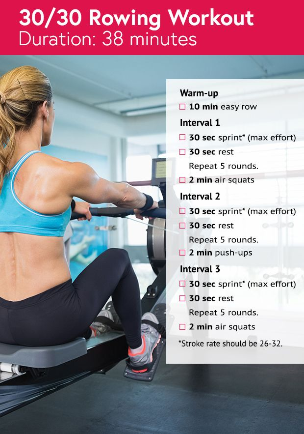 38-minute 30/30 rowing workout #crossfit