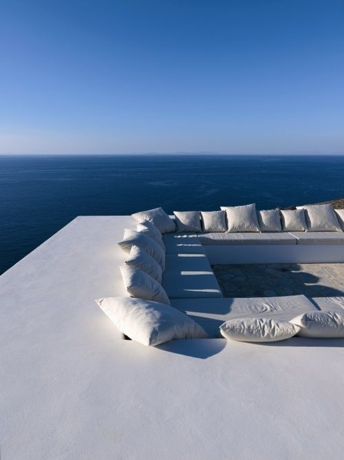 Roof terrace. Not great for kids but that looks like one of the most relaxing places to hang out... ever