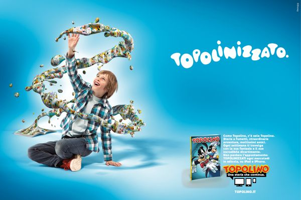 Topolino (Print and Ambient Media) by Paolo Platania, via Behance