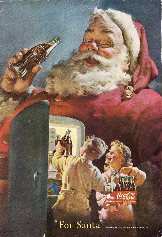"""Coca-Cola """"For Santa"""", 1950.                                                                                                                                                                                 More"""