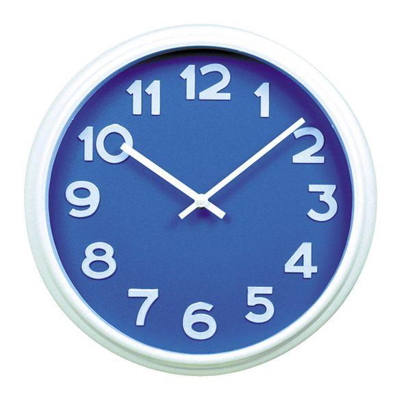 Round 31cm Wall Clock Blue image